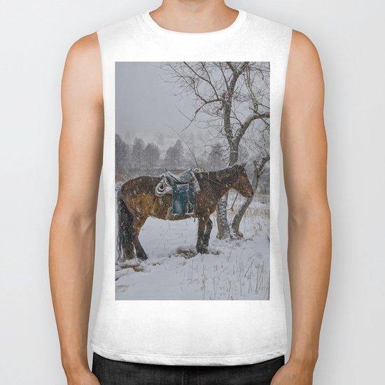 Winter Horse III Biker Tank