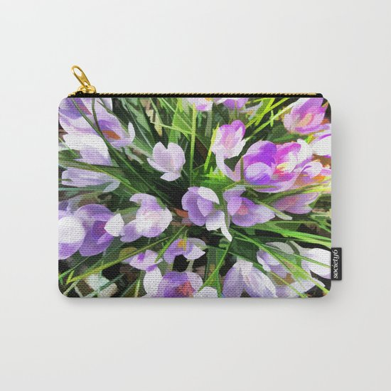 Soft Painterly Crocuses Carry-All Pouch