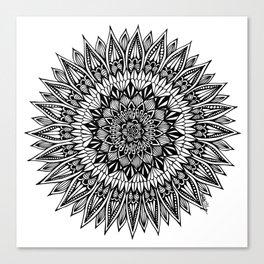 Zentangle - Sunflower Canvas Print