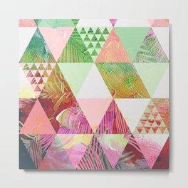 pastel colored geometric pattern in vintage style Metal Print