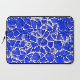 Blue broken glass texture Laptop Sleeve