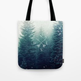Arrow Compass in the Winter Woods Tote Bag