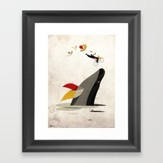 For a breath, the butterflies Framed Art Print