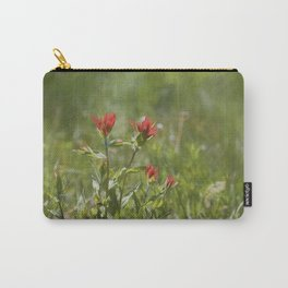 Indian Paintbrush Painterly Carry-All Pouch