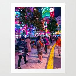 Shinjuku nights Art Print