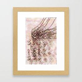 Pill bottle - spillage Framed Art Print