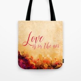 LOVE IS THE AIR Portrait Tote Bag