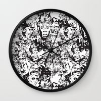 community Wall Clocks featuring Community Blowback by InariRaith