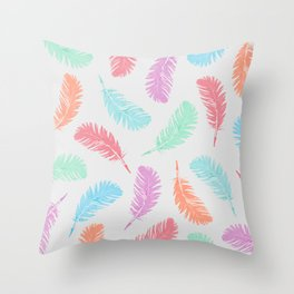 Summer feathers Throw Pillow