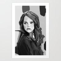 emma stone Art Prints featuring Emma Stone by Vito Fabrizio Brugnola