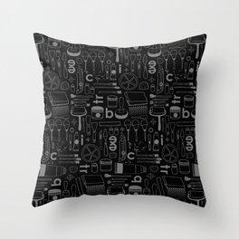 BIECTR_COMBO_NOIR-GRIS Throw Pillow