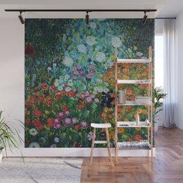 Flower Garden Riot of Colors by Gustav Klimt Wall Mural