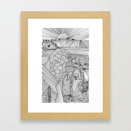 Line drawing 2 Framed Art Print