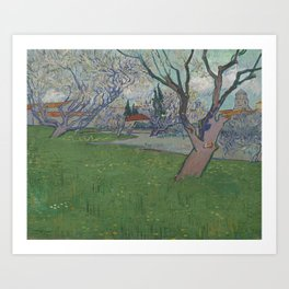 Orchards in Blossom, View of Arles Art Print