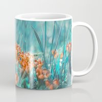 mint Mugs featuring Mint by SensualPatterns