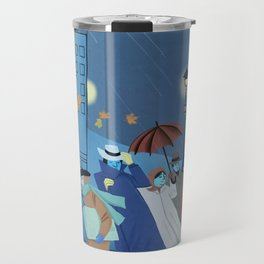 November Evening Bus Stop Travel Mug