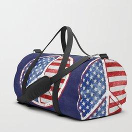 Watercolor Patriot Peace Symbol Stars and Stripes USA Flag Duffle Bag