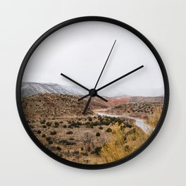 Mist in New Mexico Wall Clock