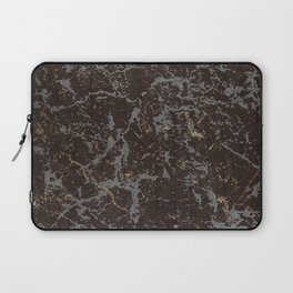 Crystallized gold stone texture Laptop Sleeve