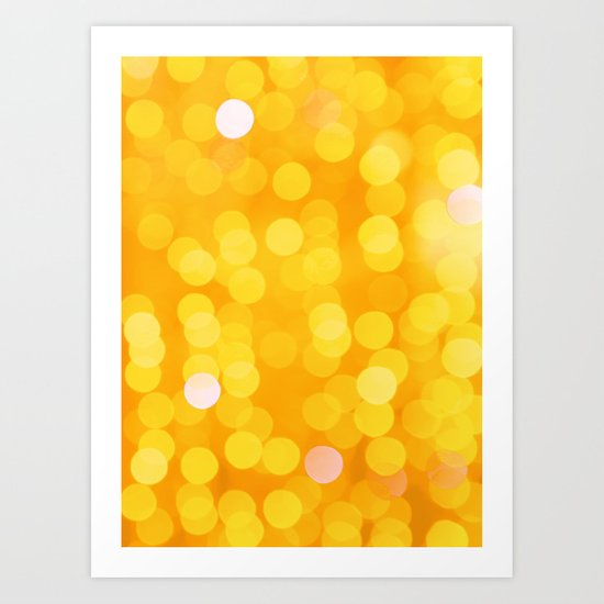 Disco Fever in Yellow Art Print