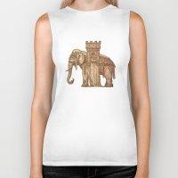 bastille Biker Tanks featuring Elephant Bastille by Bluepress