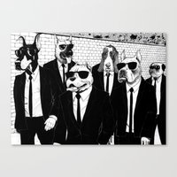 reservoir dogs Canvas Prints featuring Reservoir Dogs by Vitrugo