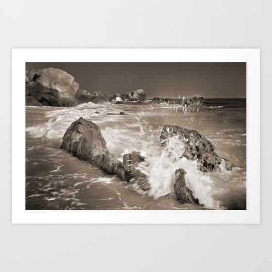The wave. Tarifa beach at summer Art Print