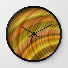 Circular golden Wall Clock