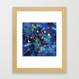 Stars That Can Laugh Framed Art Print