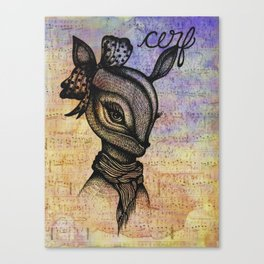 Cerf (Deer) Canvas Print