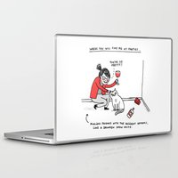 humor Laptop & iPad Skins featuring Me, At Parties by gemma correll