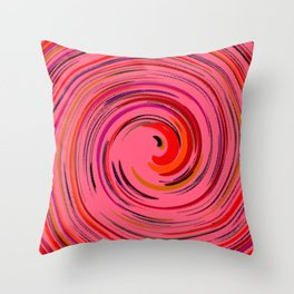 Pink circle Throw Pillow