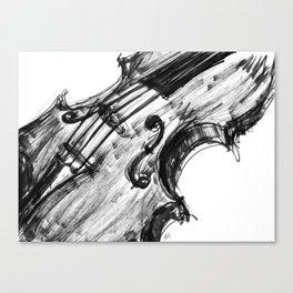 Black Violin Canvas Print