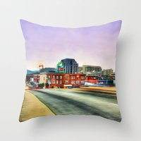 virginia Throw Pillows featuring Roanoke Virginia by ThePhotoGuyDarren