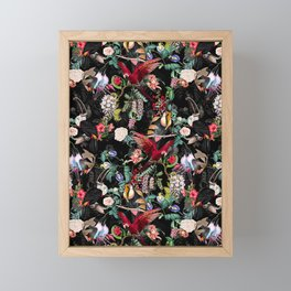 Floral and Birds IX Framed Mini Art Print