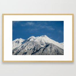 The majestic Austrian Alps covered with fresh snow in March. Framed Art Print