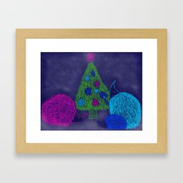 Hedgehog Holiday Framed Art Print