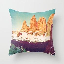 Chile, Patagonia Throw Pillow