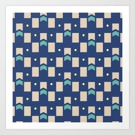 Art Deco Geometric Pattern 272 Art Print