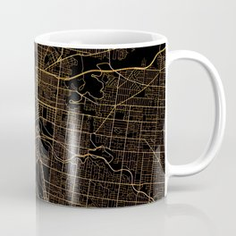Black and gold Melbourne map Coffee Mug