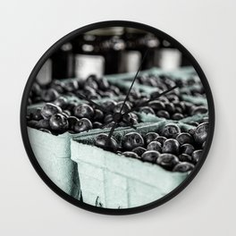 Market Day - Blueberries Wall Clock