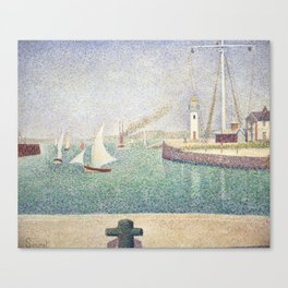 Entrance of The Port of Honfleur - Georges Seurat Canvas Print