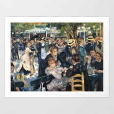 Dance at Le Moulin de la Galette by Renoir Art Print