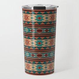 Southwest Design Turquoise Terracotta Travel Mug