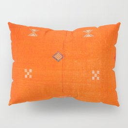 Traditional Anthropologie Moroccan orange Artwork. Art Print Pillow Sham