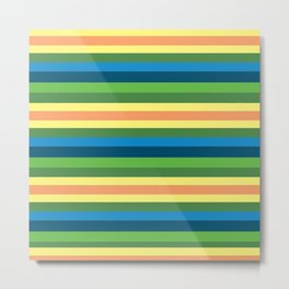 Pastel Gama Stripes Metal Print