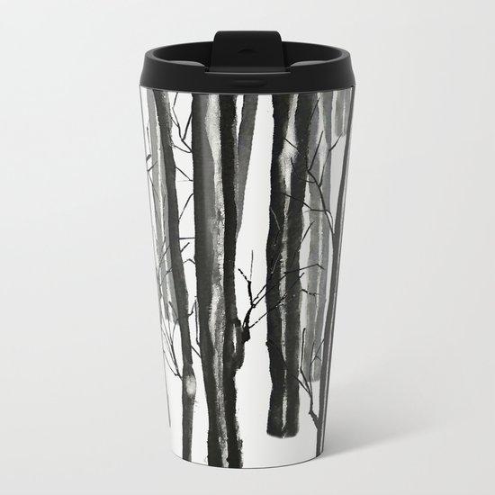 wood and snow Metal Travel Mug