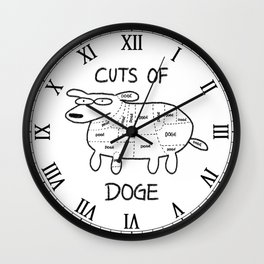 CUTS OF DOGE Wall Clock