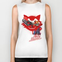 rocket raccoon Biker Tanks featuring Rocket Raccoon by Markusian