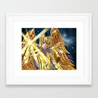saga Framed Art Prints featuring Gemini Saga by Studio Kawaii